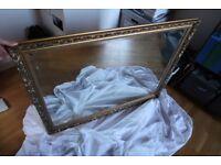 Large Antique Gold/Brass Effect Mirror
