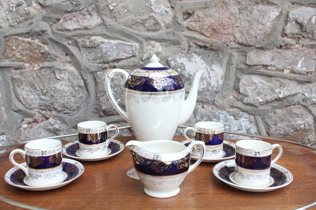 Vintage Crown Ducal A.G.R. Coffee Service Coffee Pot 4 Cups & Saucer Tea Set Tea Service Antique