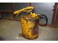 TECALEMIT OIL PUMP BUCKET, VINTAGE, POSSIBLY FOR CATERPILLAR