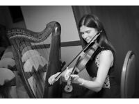 Harpist/Fiddle Player Available for Weddings and Events