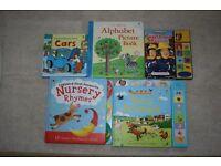 5 x Pre-School/Baby/Toddler Board Books (Usborne/Ladybird/Fireman Sam)