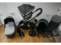 iCandy Peach 3 single pram pushchair+ car seat travel system - grey Truffle 3in1 CAN POST