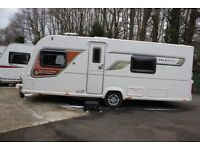 Bailey Unicorn Valencia OVS 2013 4 Berth Fixed Single Beds Caravan + Solar Panel