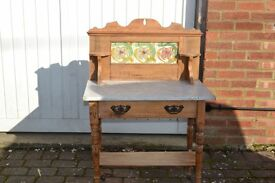 Pine Washstand Marble top