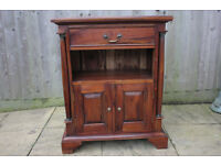 Vintage wooden cabinet / storage cupboard with decorative balusters