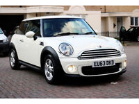 Automatic -- 2013 Mini Hatch ONE 1.6 AUTO -- (WHITE and Nice) -- Part Exchange OK -- Drives Good