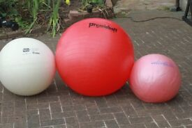 3 Exersize Balls, Special Needs or Fitness Items