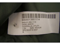 NEW - US ARMY - Vehicle Crewmans Utility Coveralls - Size Medium