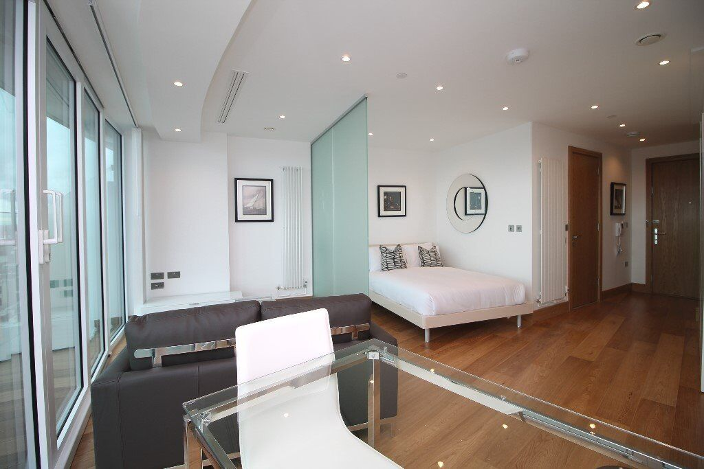Stunning, Furnished, Brand- New, Modern Studio in Canary Wharf with Gym, Pool E14 MB