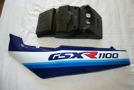 GSXR 1100L side panel and plate holder original and brand new...OFFERS.
