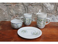 Lovely Handmade pottery by Louise Darby - Milk Jug, Sugar Bowl, Mug and Side Plate Art Studio Potter