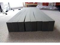 """Acoustic foam strips -- 4ft long, 2""""x1"""""""