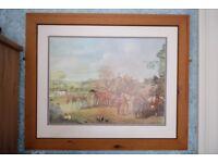 Large Framed Hunting Print