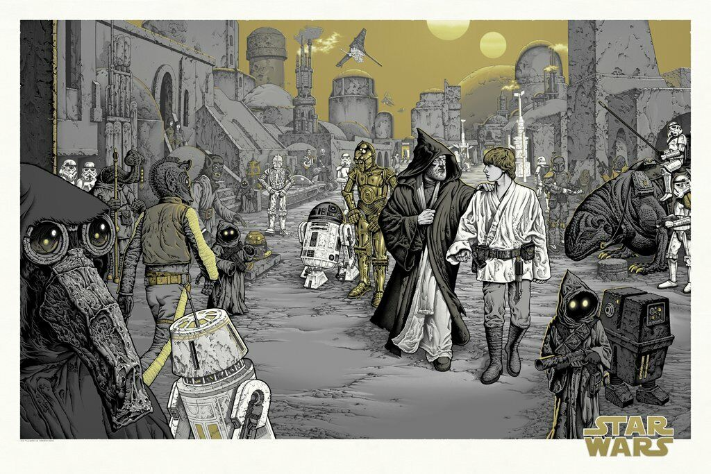 Star Wars Mike Sutfin We Must Be Cautious Poster Mondo MV- 175 Variant XX/175 - $102.50