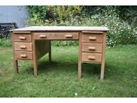 """Desk. 5' x 3'. 30"""" high. In some need of further restoration."""