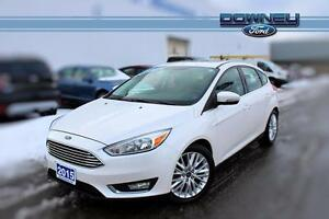 2015 Ford Focus TITANIUM, LEATHER, GPS, HTD SEATS!, BACKUP CAMER