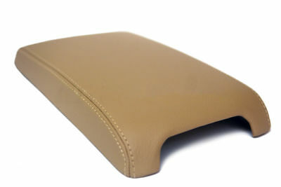 Center Console Armrest Leather Synthetic Cover for Toyota Camry 12-17 Beige Beige Cam Cover