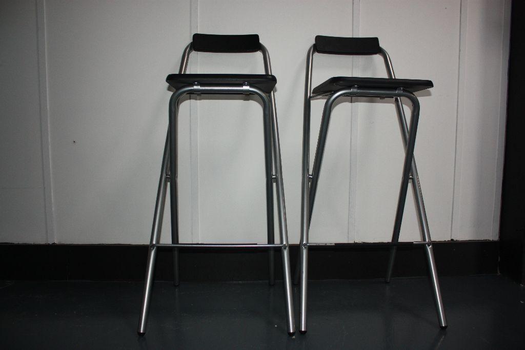 Fine Theo Pair Of Folding Bar Stools In Aston West Midlands Gumtree Machost Co Dining Chair Design Ideas Machostcouk
