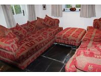 2 Large Sofas and Matching Foot Stool - **Reduced**