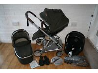 Mamas and Papas Urbo 2 Khaki tweed pram pushchair with car seat 3 in 1 travel system CAN POST