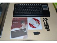 KeySonic Wireless Keyboard & TouchPad Mouse