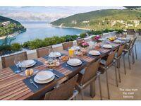 luxury 6 bedroom new villa + heated pool. Beautifully situated in Pučišća on the island Brač, Split