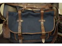 POLO RALPH LAUREN Large Canvas Leather Briefcase