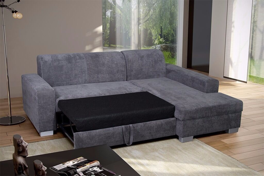 Really Nice Brand New Corner Sofa Bed With Storage Grey Or Beige Can
