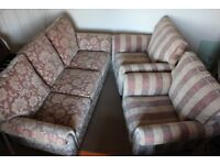 Alstons Ixworth Three Piece Suite - Sofa and 2 Chairs - AS NEW