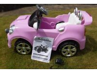 Childrens 6V Electronic Car – Mini Cabriolet £140 RRP - Pink - Nearly New. Bargain.