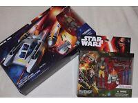 "Star Wars Rebels Y-WING SCOUT BOMBER + Kanan Jarrus / Garrazeb Orrelios / C1-10P - 3.75"" Figures NEW"