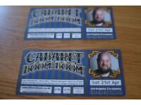 Cabaret Boom Boom, Walkley Centre, Sheffield ,Sat 21st April x two tickets