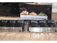KITCHEN THERAPY 2 LARGE BUFFET PAN FOOD WARMER CAN BESEEN WORKING