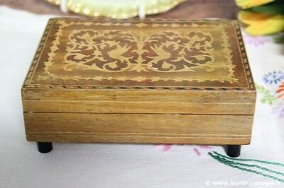 SCATOLA  D'EPOCA CON CARILLON PREMILEX - VINTAGE SORRENTO WOODEN MUSIC BOX