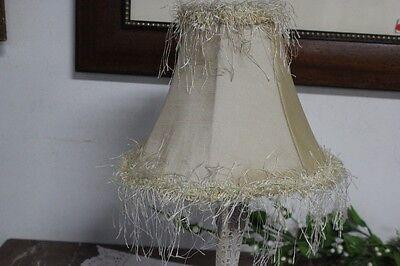 PARALUME IN STOFFA H cm 19 COLORE BEIGE PER LAMPADA, LUME, APPLIQUE - VENTOLA