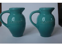 Le Creuset Stoneware 3-Ounce Salt and Pepper Shaker Set, Carribean, Collectible