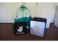 Deliveroo Equipment Kit - Backpack, Small Thermal Bag, Cycling Jacket