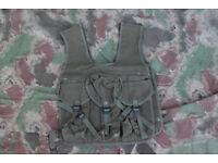 Vintage French Military Canvas Assault Vest