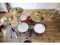 Sonor Force 3001 drum kit & Sabian AAX cymbals