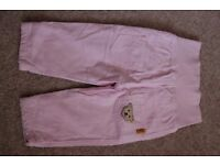 Steiff pink trousers, never worn, size 9mth