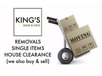 REMOVALS - VAN HIRE - SINGLE ITEMS - HOUSE CLEARANCE - GARAGE CLEARANCE - STORAGE - MAN AND VAN