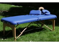 SISSEL® Robust Portable Massage Table \ Bed, blue + bag