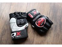 RDX full leather 7oz MMA gloves, size Medium