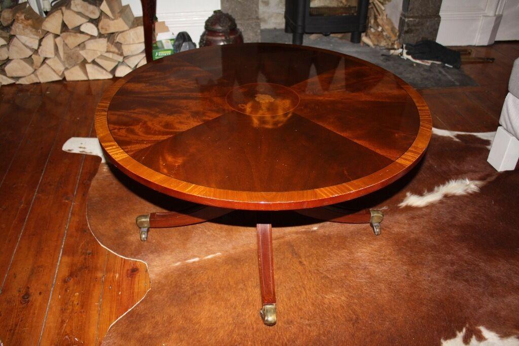 Beautiful Wood Inlay Coffee Table
