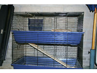 GUINEA PIG / SMALL RABBIT 2 STOREY HUTCH