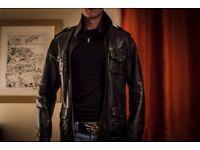 Superdry Leather Jacket - Medium