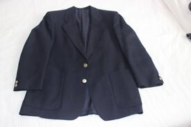 Dark Navy Single Breast 2 button Blazer, fully lined, 2 vents at the back