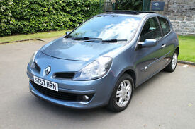 2007 RENAULT CLIO 1.2 DYNAMIQUE TCE TURBO 100bhp Alloys PANROOF 81k MOT 1 YR £1595 (1st CAR POLO)