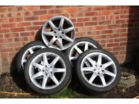 17 Inch Alloy Wheels and Tyres for W203 Mercedes