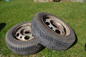 4 stud steel wheels and tyres